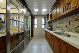 黄色新古典风格厨房效果图设计