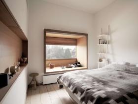 文艺清新自然现代风格卧室飘窗设计图片