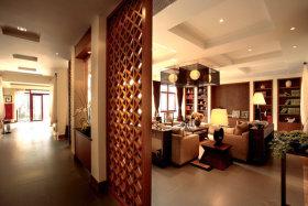 镂空雕花精美新古典风格客厅隔断欣赏