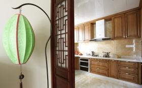 混搭仿中式厨房美图欣赏