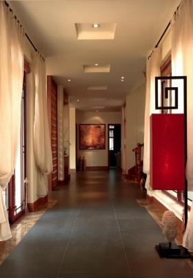 东南亚风格素雅米色过道装潢设计