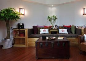 中式风格红色客厅沙发装饰案例