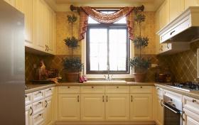 田园风格厨房装潢案例