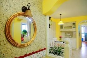 黄色田园风格餐厅设计图