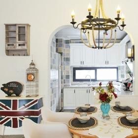 东南亚风格白色餐厅设计装潢