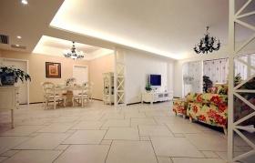 简欧田园米色客厅设计案例