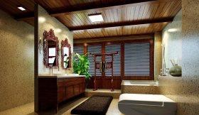 雅致中式风格卫生间装修效果图