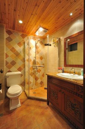 2016东南亚风格浪漫橙色卫生间装潢案例
