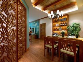 褐色东南亚风格餐厅装饰设计图片