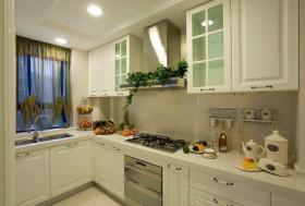 大气黄色欧式厨房橱柜装修