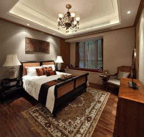 精致新古典温馨卧室装潢赏析