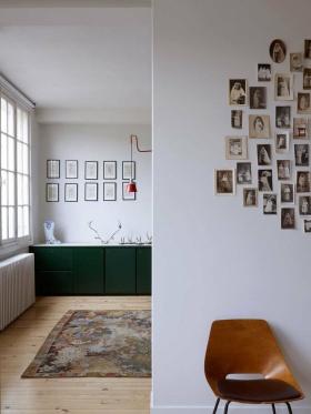 白色宜家风格照片墙装修设计欣赏