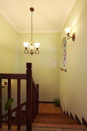 绿色清新简约风格楼梯装修案例