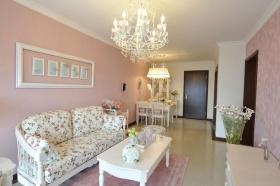 2016浪漫唯美田园粉色客厅装修设计