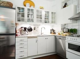 清新白色宜家风格厨房装修案例