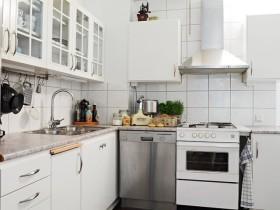 206白色质感田园风格厨房装修案例