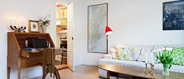 白色田园风清新客厅装潢设计