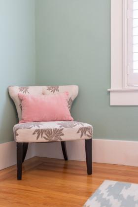 简约粉蓝色休闲沙发效果图设计