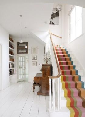 欧式风格白色楼梯装修图片