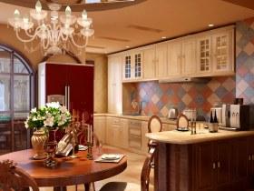 休闲美式风格餐厅橱柜装饰设计图片