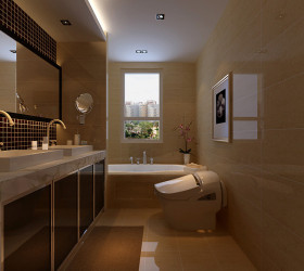 中式风格卫生间装修效果图片