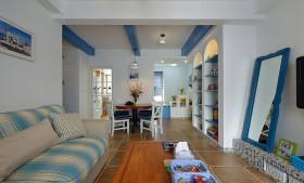 2016蓝色浪漫田园风格客厅装修设计