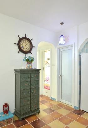 地中海风格清新白色玄关装修设计图