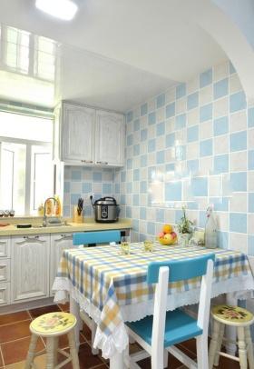 地中海风格清新厨房设计装潢