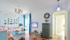 浪漫地中海风格2016客厅装饰设计图片