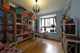 美式风格实用书房收纳柜欣赏