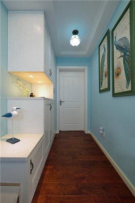 宜家风格清新蓝色玄关装修设计