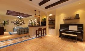 休闲地中海风格钢琴区装修布置