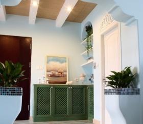 绿色清新地中海风格鞋柜装潢图片赏析