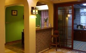 黄色浪漫混搭风格吧台装修设计