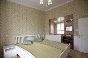 黄色田园风格卧室装修图片欣赏