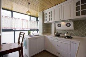 地中海风格白色厨房装潢设计