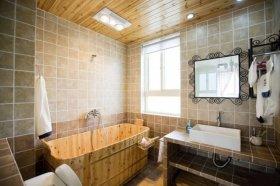 黄色新中式风格卫生间设计装潢