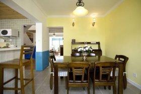 2016黄色温馨地中海风格餐厅装修案例