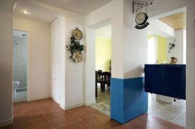 白色清新地中海风格过道装修设计