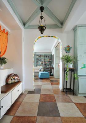 米色浪漫地中海风格过道装修案例