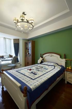 地中海风格清新绿色儿童房装修布置