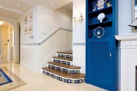 蓝色地中海楼梯装修布置