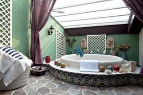 浪漫东南亚风情创意卫生间设计图片