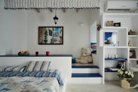 地中海风格浪漫蓝色儿童房装修图片