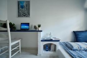 浪漫舒适地中海蓝色卧室装潢案例