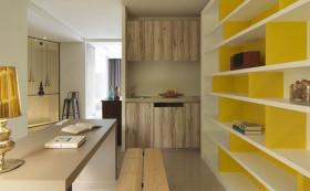 简约风格黄色书房装修布置