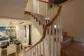 清新地中海风格楼梯设计装修