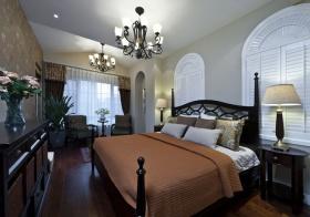 蓝色地中海浪漫精致卧室装修图片