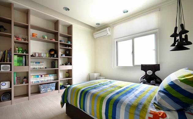 白色清新宜家风格儿童房装修图片