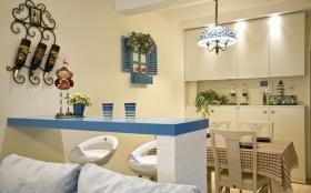 休闲地中海米色吧台装修图片